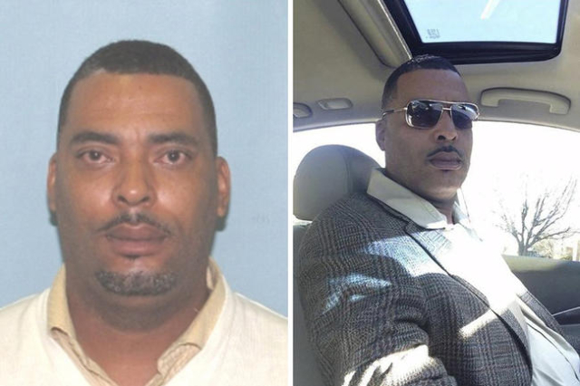 """Donald """"Chip"""" Pugh is pictured in this undated booking photo (L), and in a selfie, provided by the Lima Police Department in Lima, Ohio January 12, 2016. (Lima Police Department handout/ ..."""
