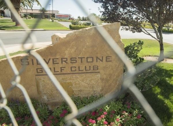 Silverstone Golf Club, 8600 Cupp Drive, taken through a portable fence is seen Thursday, Sept. 3, 2015. (Jeff Scheid/Las Vegas Review-Journal)
