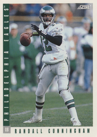Former UNLV quarterback Randall Cunningham is featured on a trading card while with the Philadelphia Eagles. (Courtesy of UNLV sports information department)