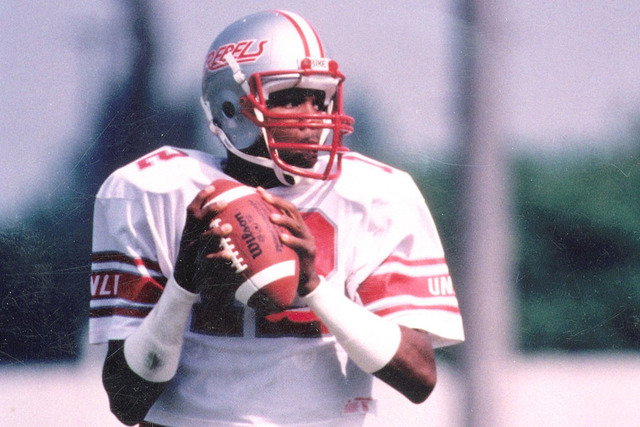 Quarterback Randall Cunningham during his playing days at UNLV. (Courtesy of UNLV sports information department)
