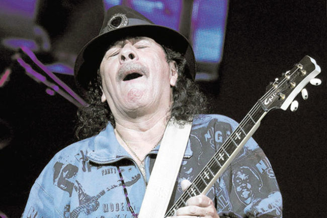 Carlos Santana performs at the House of Blues in Mandalay Bay in Las Vegas on Wednesday, May 2, 2012. (Jason Bean/Las Vegas Review-Journal)
