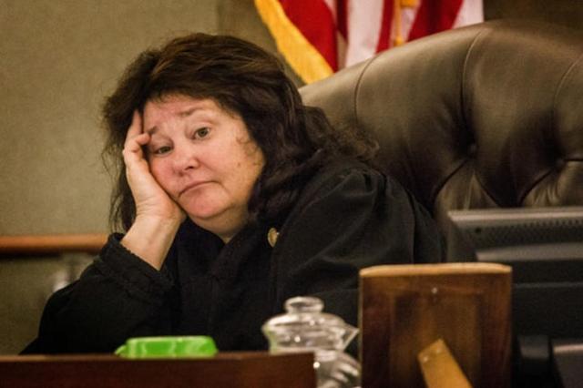 District Judge Elizabeth Gonzalez sits during a hearing at Clark County Justice Center on Thursday, April 30, 2015.  Jeff Scheid/Las Vegas Review-Journal Follow @jlscheid