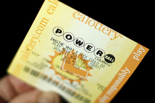 A Powerball lottery ticket is shown in this illustration photograph in Encinitas, California January 8, 2016. REUTERS/Mike Blake