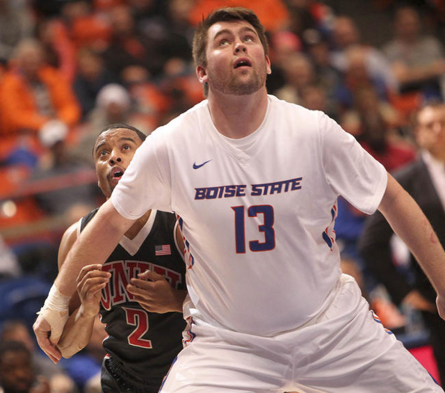 Boise State defeated UNLV 81-69 at Taco Bell Arena in Boise, Idaho. Tuesday February 23, 2016. (Kyle Green/Las Vegas Review-Journal)