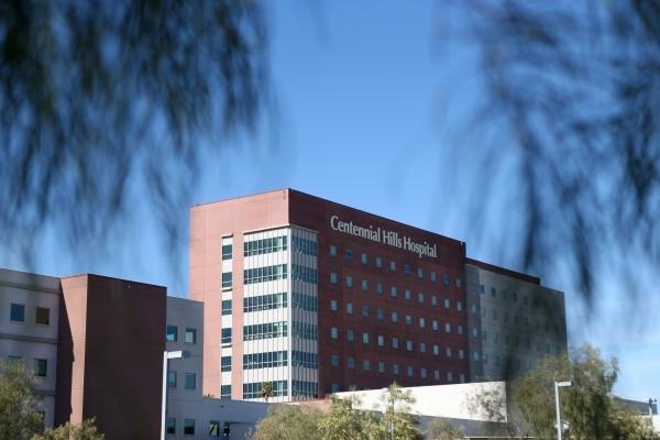 Centennial Hills Hospital in Las Vegas is seen on Friday, Nov. 20, 2015. Erik Verduzco/Las Vegas Review-Journal Follow @Erik_Verduzco