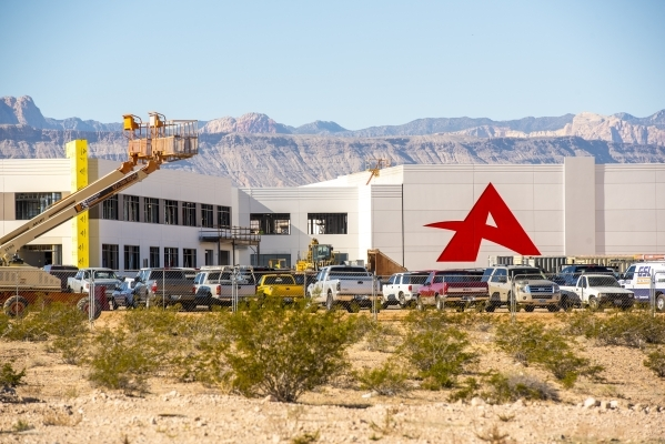 The Ainsworth Game Technology building is seen under construction near Jones Boulevard and the 215 Beltway in Las Vegas on Tuesday, Nov. 24, 2015. (Joshua Dahl/Las Vegas Review-Journal)