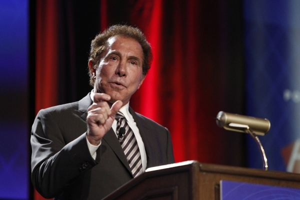 Keynote speaker Steve Wynn, CEO of Wynn Resorts, speaks during a seminar at the Global Gaming Expo at Sands Expo and Convention Center in Las Vegas Tuesday, Sept. 30, 2014. (Erik Verduzco/Las Vega ...