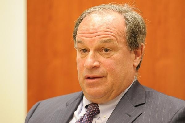 Treasurer Dan Schwartz speaks to the Las Vegas Review-Journal editorial board on Thursday, Aug. 21, 2014. (Mark Damon/Las Vegas Review-Journal)