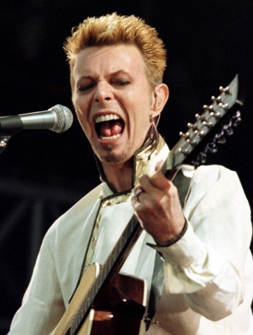Rock star David Bowie last performed in Las Vegas in 2004. REUTERS FILE PHOTO
