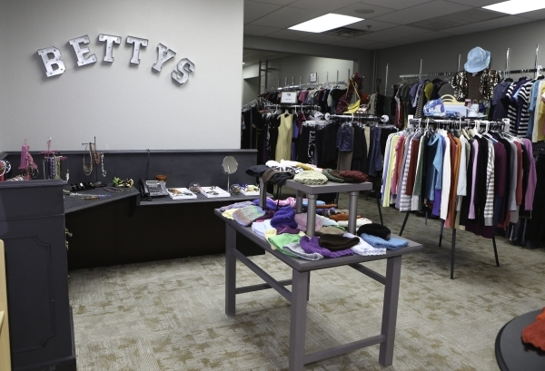 Donated clothing and accessories to Project 150 are displayed at Betty's Boutique on Thursday, Jan. 21, 2016, in Las Vegas. Project 150, the local charity that provides basic necessities to  ...