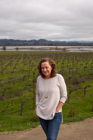 Nancy Cline poses at the Jacuzzi Family Vineyards in Sonoma, Calif. on Monday January 25, 2016. Cline and her husband Fred Cline, owners of Cline Cellars winery in Sonoma, Calif., restored and own ...