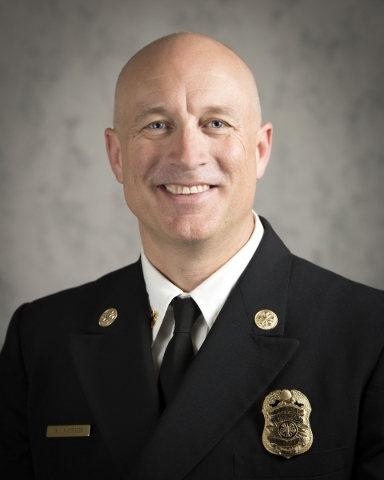 Matthew L. Morris was sworn in as the new fire chief of the Henderson Fire Department in January. Special to View