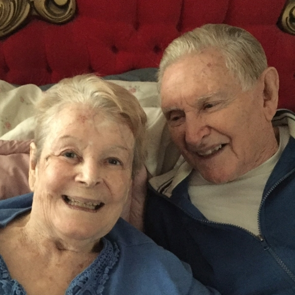 Earl Kenneth Simpson and his wife, Margarette, are photographed celebrating their 70th anniversary on Nov. 5. Special to View