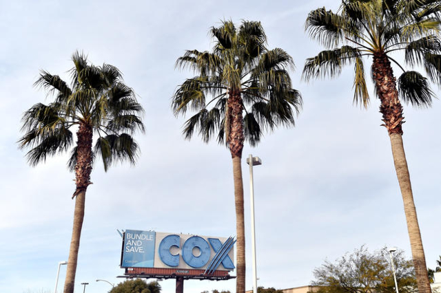 A billboard advertising cable provider Cox Communications is seen Friday, Jan. 22, 2016, in Las Vegas. David Becker/Las Vegas Review-Journal
