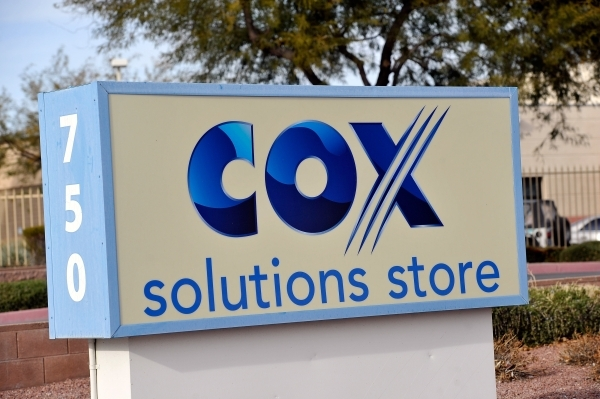 A Cox Communications marquee sign is seen Friday, Jan. 22, 2016, in Las Vegas. The Las Vegas cable provider and KLAS, the local CBS affiliate, are currently in a negotiation deadlock that could le ...