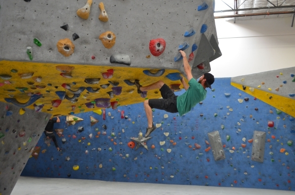 Cory Bennelack climbs at The Refuge Climbing & Fitness, 6283 S. Valley View Blvd. Ginger Meurer/Special to View