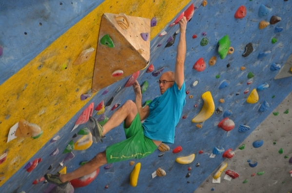 Ben Williams climbs at The Refuge Climbing & Fitness, 6283 S. Valley View Blvd. Ginger Meurer/Special to View