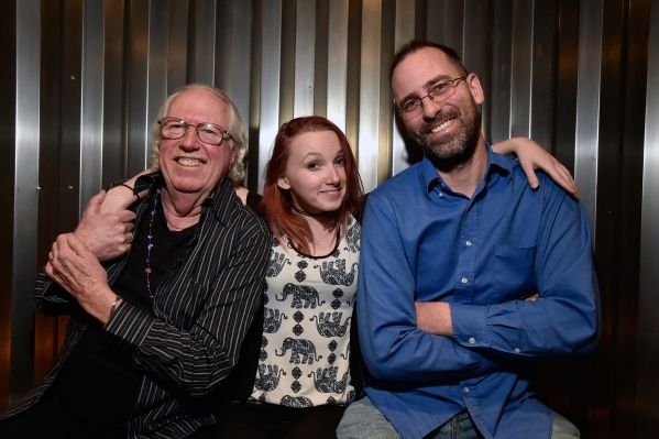 Performers Lee Mallory, left, Philena Carter and producer Paul Michelsen pose at the Hop Nuts Brewery on Monday, Jan. 25, 2016, in Las Vegas. The two performers along with Mizz Absurd are schedule ...
