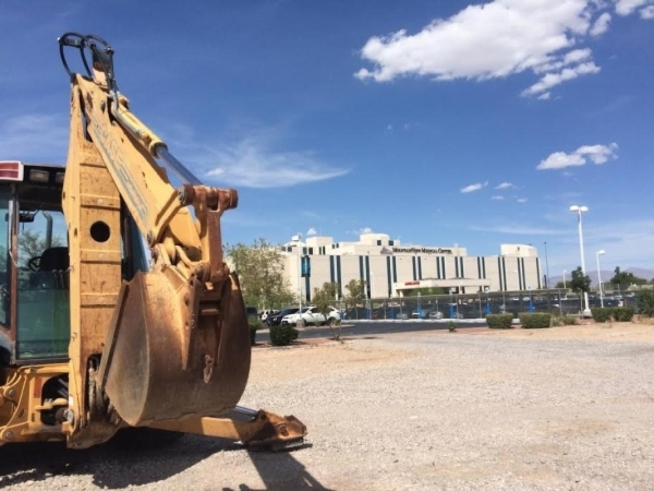A skip loader is seen Sept. 2, 2015, at the southern edge of MountainView Hospital, 3100 N. Tenaya Way. The hospital has announced a $90 million expansion, which will include the addition of 64 be ...