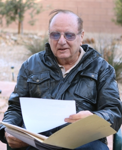 Michael Grubler goes through letters he received from Department of Veterans Affairs during an interview at his Las Vegas home Monday, Jan. 25, 2016. Grubler alerted the VA to a problem in the way ...
