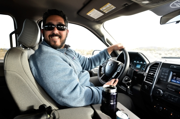 Director David Lamfrom of the California Desert and National Wildlife smiles as he tours the high desert area of the Castle Mountains Monday, Feb. 1, 2016. A 29,000 acre parcel southwest of Search ...