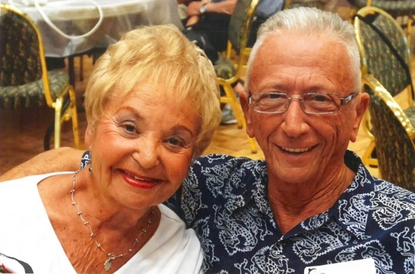 Elaine and Buddy Ruda share a smile in this photo from 2015. The two kept running into one another but circumstances meant the timing wasnþÄôt right. They finally ended up single at the s ...