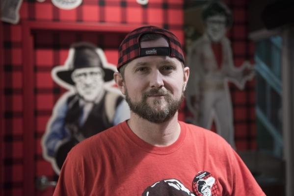 Robert Buckel poses at the Smoke's Poutinerie he co-owns in Pawn Plaza at 725 Las Vegas Blvd. South in Las Vegas Friday, Jan. 29, 2016. Jason Ogulnik/Las Vegas Review-Journal