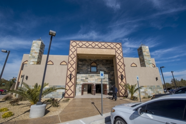 The exterior of Masjid Ibraham in Las Vegas is shown on Friday, Jan. 29, 2016. The mosque opened over the weekend. Joshua Dahl/Las Vegas Review-Journal