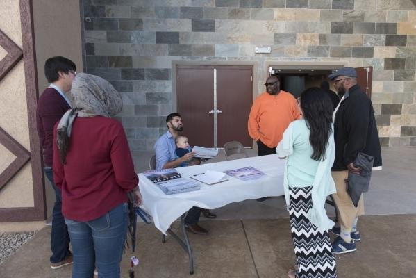 People gather at Masjid Ibrahim during a neighborhood get together for the mosque's opening weekend in Las Vegas Saturday, Jan. 30, 2016. Jason Ogulnik/Las Vegas Review-Journal