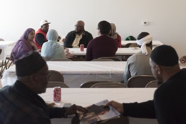 People gather for lunch at Masjid Ibrahim during a neighborhood get together for the mosque's opening weekend in Las Vegas Saturday, Jan. 30, 2016. Jason Ogulnik/Las Vegas Review-Journal