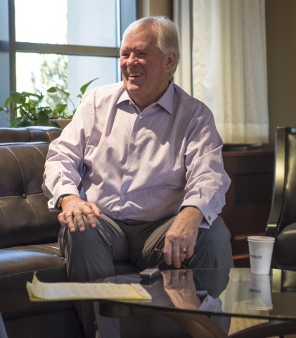 Bill Foley, the man who is leading the NHL season ticket drive, speaks during an interview at the Fidelity National Financial offices in Summerlin, Nev. on Friday, Feb. 5, 2016. Joshua Dahl/Las Ve ...