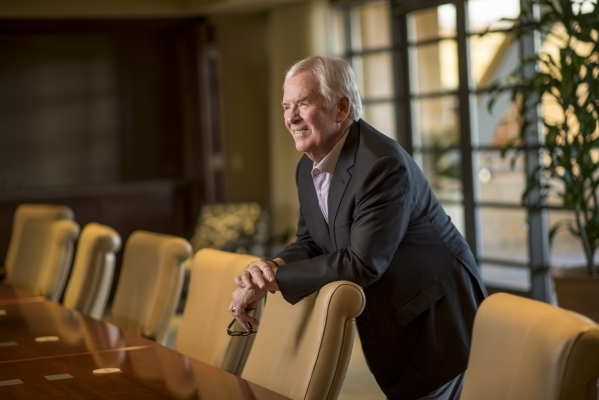Bill Foley, the man at the center of efforts to bring a National Hockey League team to Las Vegas, poses for a photo at the Fidelity National Financial offices in Summerlin on Friday, Feb. 5, 2016. ...