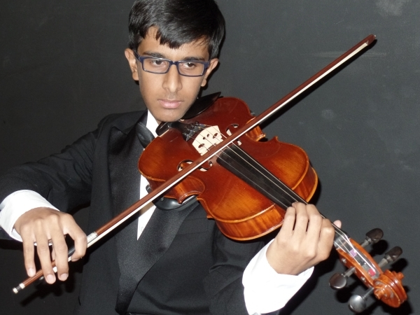 """Young violinist Rayyan Khilji will perform with the Nevada Chamber Symphony as part of the ensemble's free """"For the Love of Music"""" concert Sunday afternoon at the Clarke County Lib ..."""