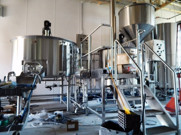 The brewing area is shown as construction continued last month at Lovelady Brewing Co., 20 S. Water St. Work at the business is set to be completed at the end of this month, with the goal of openi ...