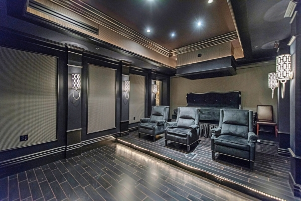 """""""This is a great place to watch the Super Bowl,"""" said listing agent Gavin Ernstone, owner of Simply Vegas. """"This room is beautifully done.""""  COURTESY"""