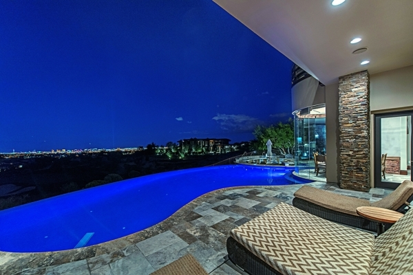 Andy and Jennifer Bloch's custom home in The Ridges neighborhood, The Pointe, is listed for nearly $9 million. COURTESY