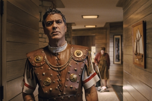"""GEORGE CLOONEY is Baird Whitlock in """"Hail, Caesar!."""" Four-time Oscar®-winning filmmakers Joel and Ethan Coen produce and direct the all-star comedy set during the latter years of  ..."""