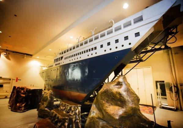A replica of the Titanic for the Jubilee show is seen at Bally's, 3645 South Las Vegas Boulevard, on Wednesday, Feb. 3, 2016. Jeff Scheid/Las Vegas Review-Journal Follow @jlscheid
