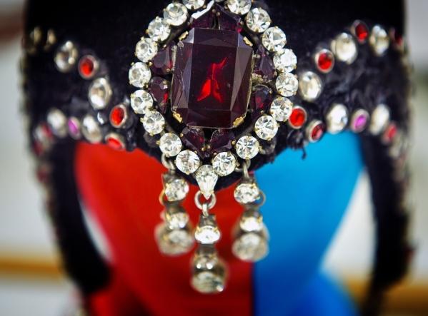 Multicolor crystals on a Jubilee headpiece is seen at Bally's, 3645 South Las Vegas Boulevard, on Wednesday, Feb. 3, 2016. Jeff Scheid/Las Vegas Review-Journal Follow @jlscheid