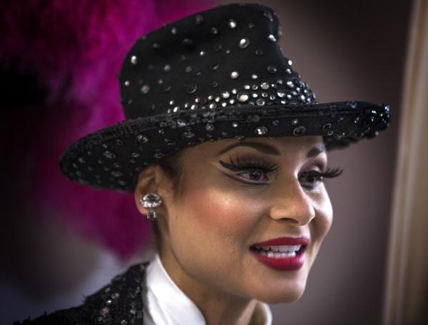 Jubilee dancer Dani Flahive  speaks during a Jubilee Theater tour at Bally's, 3645 South Las Vegas Boulevard, on Wednesday, Feb. 3, 2016. Jeff Scheid/Las Vegas Review-Journal Follow @jlscheid
