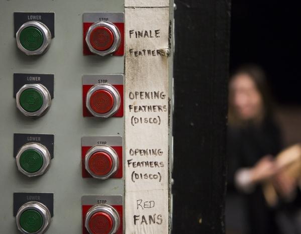 Control buttons is seen in the  Jubilee Theater at Bally's, 3645 South Las Vegas Boulevard, on Wednesday, Feb. 3, 2016. Jeff Scheid/Las Vegas Review-Journal Follow @jlscheid