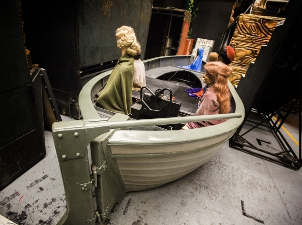 Props for the Titanic set is seen in Jubilee Theater at Bally's, 3645 South Las Vegas Boulevard, on Wednesday, Feb. 3, 2016. Jeff Scheid/Las Vegas Review-Journal Follow @jlscheid