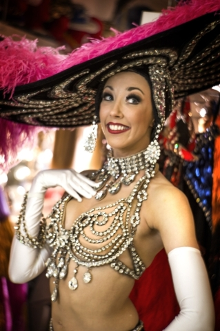 Jubilee feature dancer  Kaleigh Jones poise for a photo in the dressing room at Bally's, 3645 South Las Vegas Boulevard, on Thursday, Feb. 4, 2016. Jeff Scheid/Las Vegas Review-Journal Follo ...