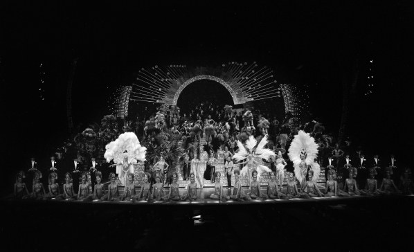 The entire Jubilee cast is pictured during a rehearsal of the finale on Tuesday, July 7, 1981, at the MGM Grand. Courtesy, Cliff Stanley/Las Vegas News Bureau