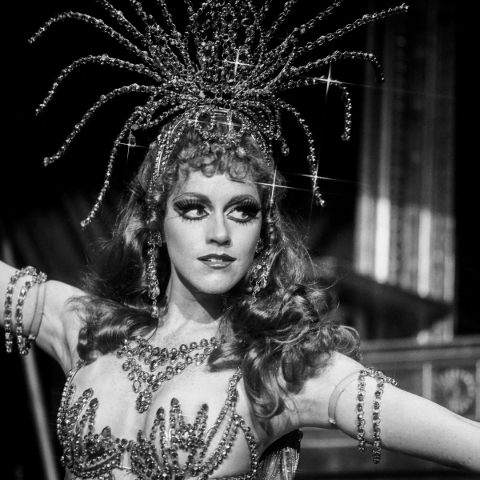 A showgirl in Jubilee dances during the production's opening month in the Ziegfeld Showroom at the MGM Grand Hotel on July 27, 1981. The show featured several chapters taken from famous Holl ...