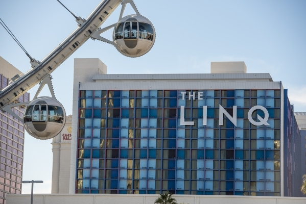 Passenger cars on the High Roller are seen at The Linq Hotel, 3535 Las Vegas Boulevard South, on Thursday, Feb. 4, 2016. Joshua Dahl/Las Vegas Review-Journal