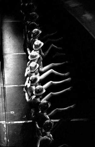 """""""Jubilee!"""" dancers do a line kick during a 2001 show at Bally's, 3645 Las Vegas Blvd. South. Jeff Scheid/Las Vegas Review-Journal Follow @jlscheid"""