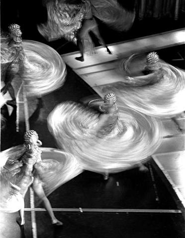 """Jubilee!"" dancers create a whirling dervish effect  during a 2001 show at Bally's, 3645 Las Vegas Blvd. South. Jeff Scheid/Las Vegas Review-Journal Follow @jlscheid"