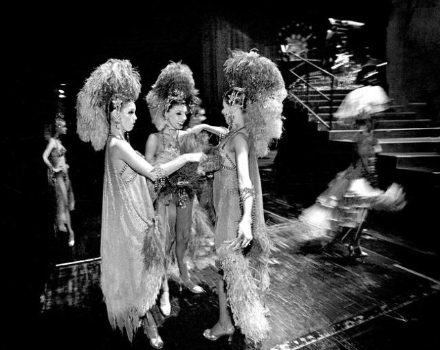 """Jubilee!"" dancers adjust their costumes backstage during a 2001 show at Bally's, 3645 Las Vegas Blvd. South. Jeff Scheid/Las Vegas Review-Journal Follow @jlscheid"