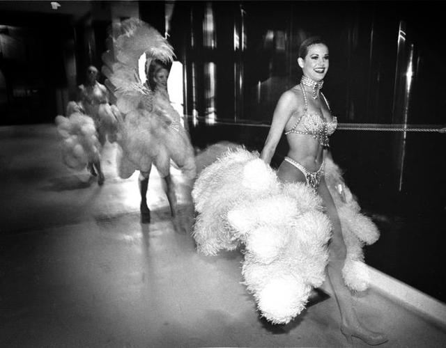 """Jubilee!"" dancers walk backstage during a 2001 show at Bally's, 3645 Las Vegas Blvd. South. Jeff Scheid/Las Vegas Review-Journal Follow @jlscheid"